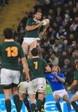 Allumette Italie de rugby contre l'Afrique du Sud - le stade de Friuli Photo libre de droits