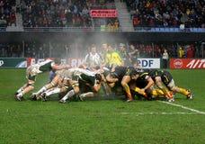 Allumette USAP de rugby de cuvette de Heineken contre l'Irlandais de Londres Images stock