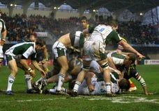 Allumette USAP de rugby de cuvette de Heineken contre l'Irlandais de Londres Photo libre de droits