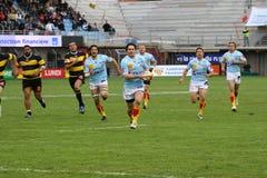 Allumette USAP de rugby du principal 14 contre Albi Photographie stock libre de droits