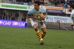 Allumette USAP de rugby du principal 14 contre Bourgoin Photos libres de droits