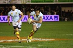 Allumette USAP de rugby du principal 14 contre Toulouse Images libres de droits