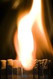 Allumettes brûlantes Photographie stock