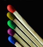 Allumettes colorées Images libres de droits