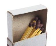 Allumettes dans une boîte d'allumettes Images stock