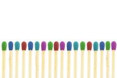 Allumettes de Colorfull images libres de droits