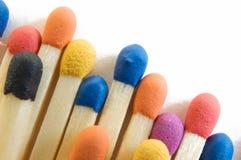 Allumettes de couleur Image libre de droits