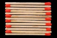 Allumettes en bois Images libres de droits