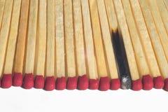 Allumettes en bois photos libres de droits