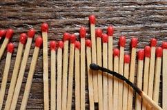 Allumettes en bois Photo libre de droits