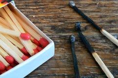 Allumettes en bois Photographie stock