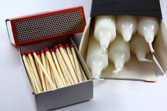 Allumettes et bougies Photos stock