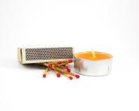 Allumettes et bougies Photographie stock