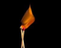 Allumettes sur l'incendie Photographie stock libre de droits