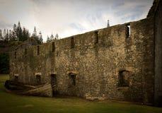 Allumeur contre des ruines, Île Norfolk Photographie stock libre de droits