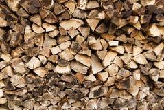 Allumez le bois et les logarithmes naturels Images libres de droits