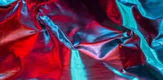 Alluminio astratto rosso e blu Fotografia Stock Libera da Diritti