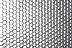 Alluminio d'argento sgualcito estratto Fotografie Stock