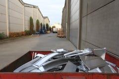 Alluminio del residuo Immagini Stock Libere da Diritti