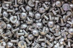 Alluminio del ribattino Fotografie Stock