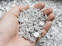 Alluminio della ferraglia a disposizione Fotografia Stock Libera da Diritti