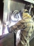Alluminio della saldatura Fotografia Stock