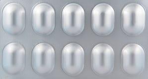 Alluminio di blister Immagine Stock
