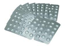 Alluminio di blister Fotografie Stock