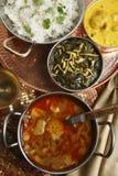 Alluminio di Khatta - un curry della patata dal Gujarat, India Fotografia Stock Libera da Diritti
