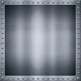 Alluminio di piastra metallica Fotografia Stock Libera da Diritti