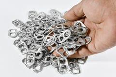 Alluminio di tirata dell'anello Fotografia Stock Libera da Diritti