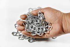 Alluminio di tirata dell'anello Fotografie Stock