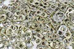Alluminio di tirata dell'anello Fotografia Stock