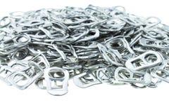 Alluminio di tirata dell'anello delle latte Immagine Stock Libera da Diritti