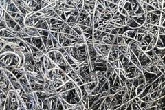 Alluminio di un gancio di pesca per gli sport all'aperto Fotografie Stock