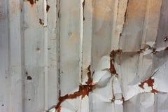 Alluminio grigio del fondo, struttura metallica e ruggine Fotografie Stock