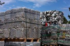 Alluminio nello scrapyard Immagini Stock