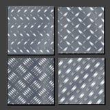 Alluminio ondulato ed insieme dorato dello strato Priorità bassa senza giunte del metallo Buon per web design Piatto d'acciaio on Fotografie Stock Libere da Diritti