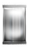 Alluminio - pacchetto metallico del sacchetto isolato su bianco Immagini Stock
