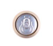Alluminio superiore e latta di soda dorata Fotografie Stock Libere da Diritti