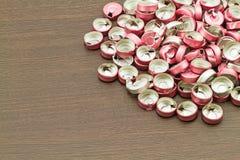 Alluminio vaccino del tappo di bottiglia, uso di plastica di alluminio per prosthe Fotografia Stock