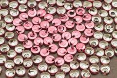 Alluminio vaccino del tappo di bottiglia, uso di plastica di alluminio per prosthe Fotografie Stock