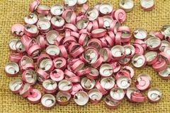 Alluminio vaccino del tappo di bottiglia, uso di plastica di alluminio per prosthe Immagini Stock Libere da Diritti