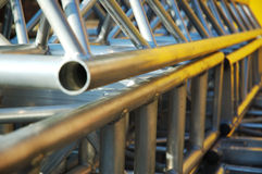Alluminium pipe construction Royalty Free Stock Photos