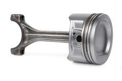 Alluminium piston. Real used alluminium piston isolated over white background Stock Images