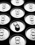 Alluminum puede las tapas Imagen de archivo libre de regalías
