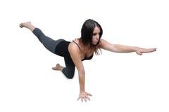 Allungamento atletico della donna (3) Fotografie Stock