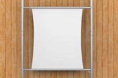 Allungamento bianco della tela sul tubo del metallo Fotografie Stock