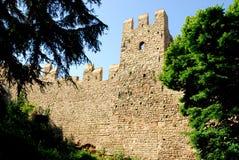 Allungamento dei mura di cinta antichi nella città di Monselice nella provincia di Padova nel Veneto (Italia) Immagini Stock Libere da Diritti