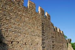 Allungamento dei mura di cinta antichi nella città di Monselice nella provincia di Padova nel Veneto (Italia) Fotografie Stock Libere da Diritti